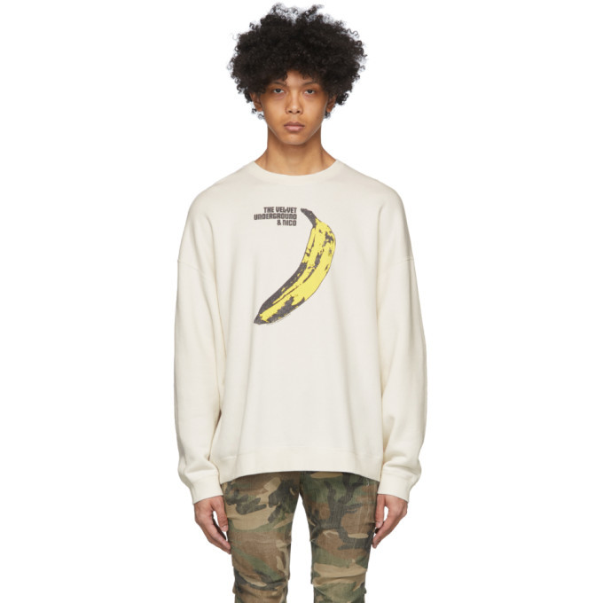 Photo: R13 Off-White The Velvet Underground Edition Banana Oversized Sweatshirt