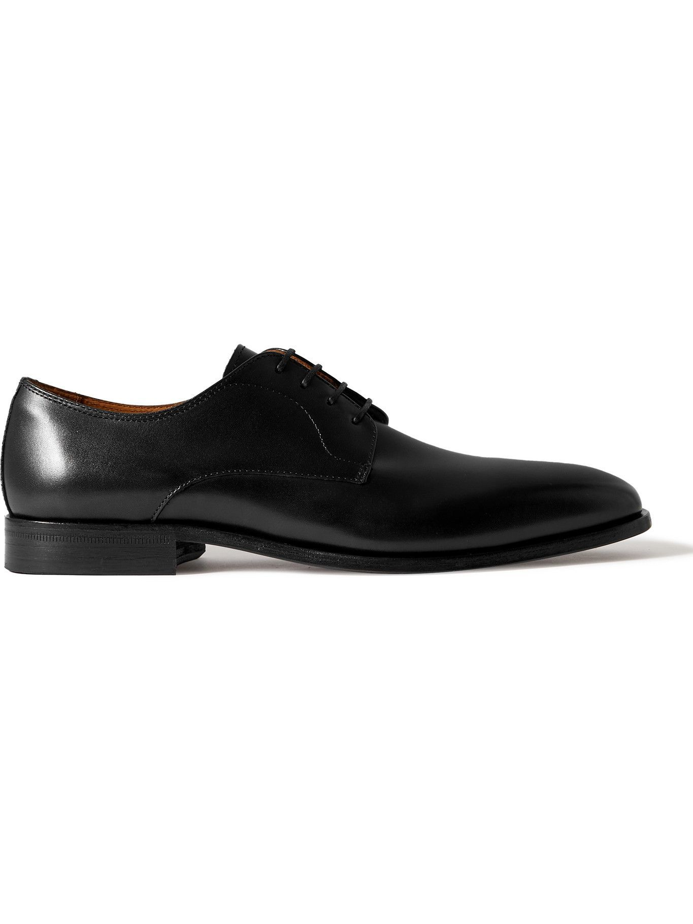 HUGO BOSS - Lisbon Leather Derby Shoes - Black