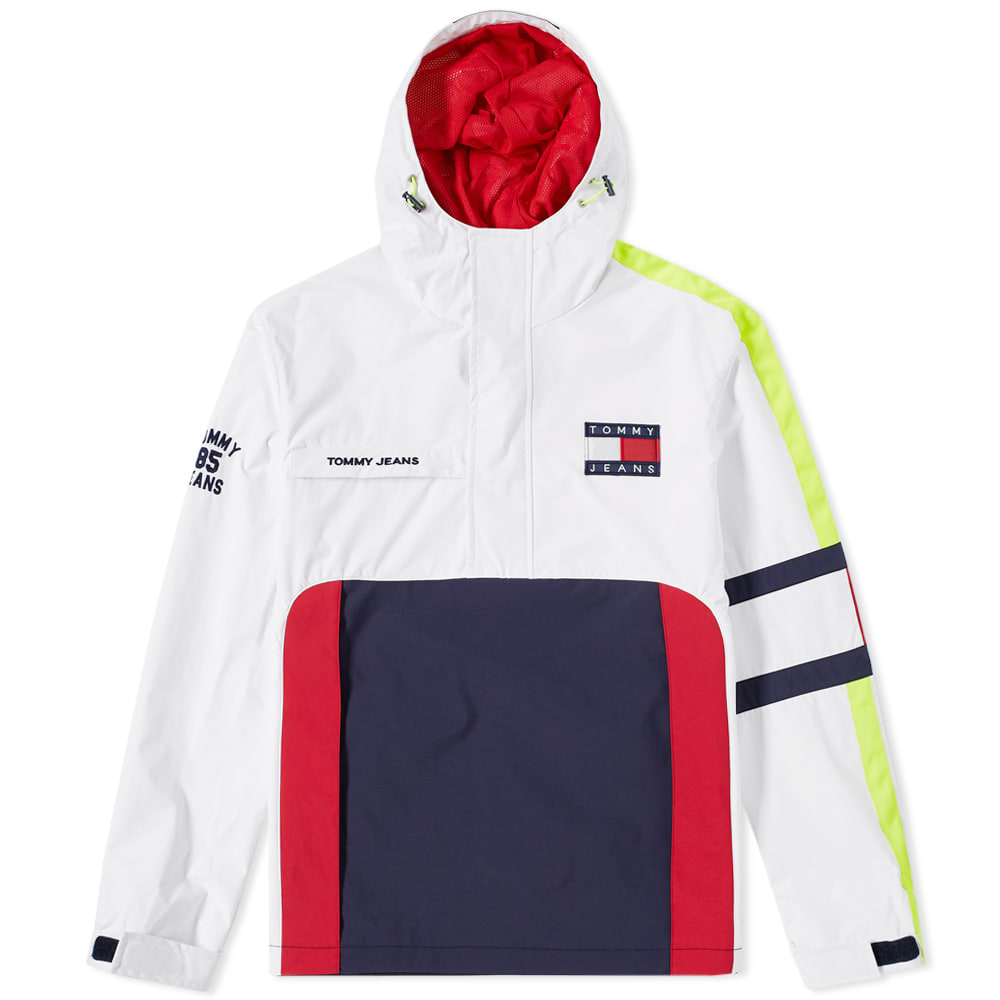b271f868 Tommy Jeans 5.0 90s Sailing Jacket White Tommy Jeans