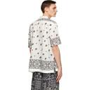 Sacai White Mix Print Archive Short Sleeve Shirt