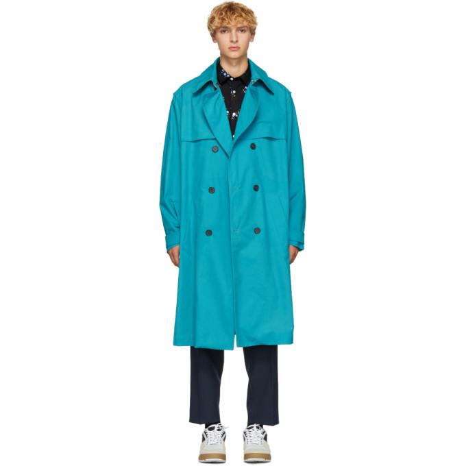 Photo: Kenzo Blue Trench Coat