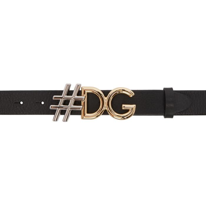 Photo: Dolce and Gabbana Black Logo Belt
