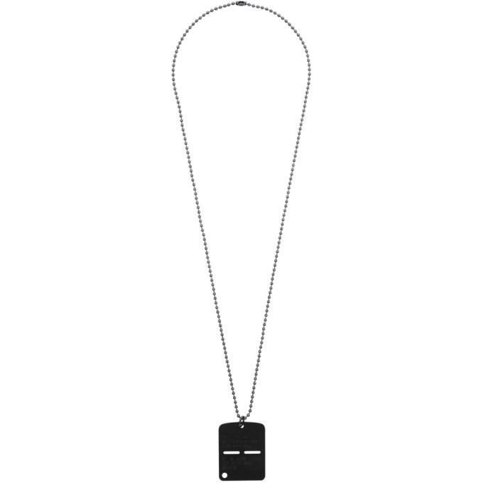 1017 ALYX 9SM Black Military Tag Necklace