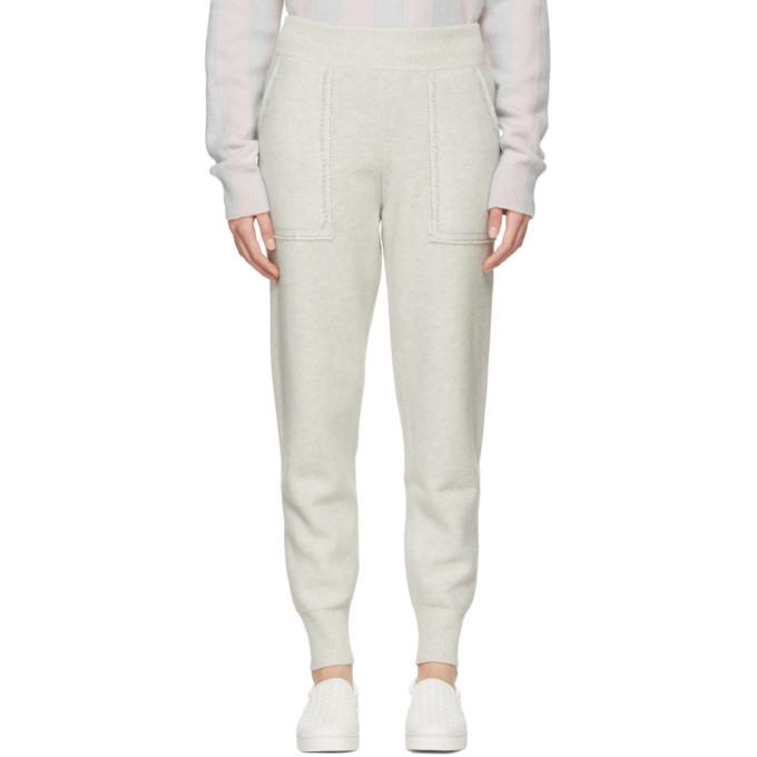 Photo: Bottega Veneta Grey Wool Lurex Lounge Pants