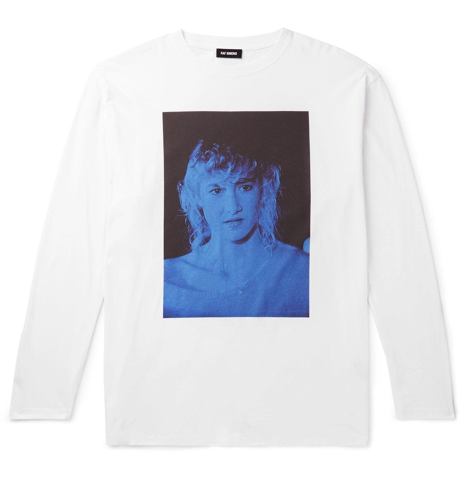 Raf Simons - Oversized Printed Cotton-Jersey T-Shirt - White