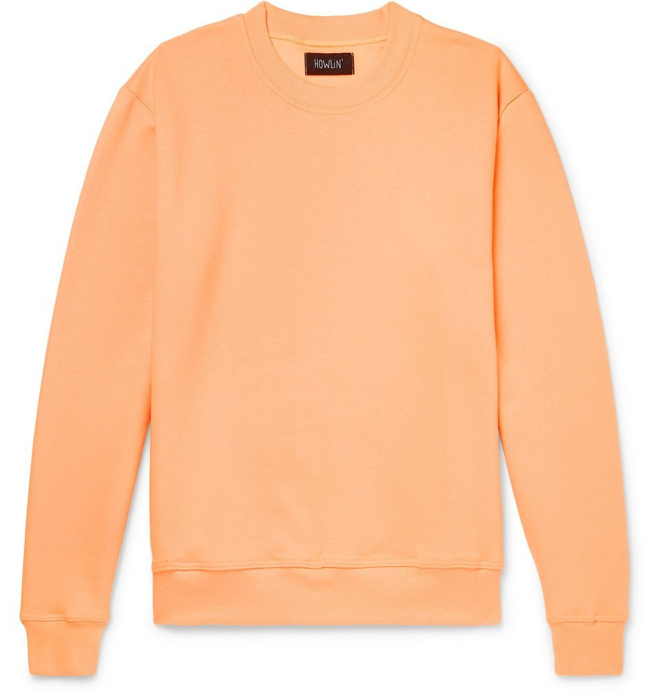 Photo: Howlin' - Fleece-Back Cotton-Jersey Sweatshirt - Orange