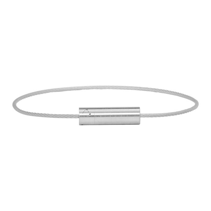 Photo: Le Gramme Silver Brushed 5 Grammes Cable Bracelet