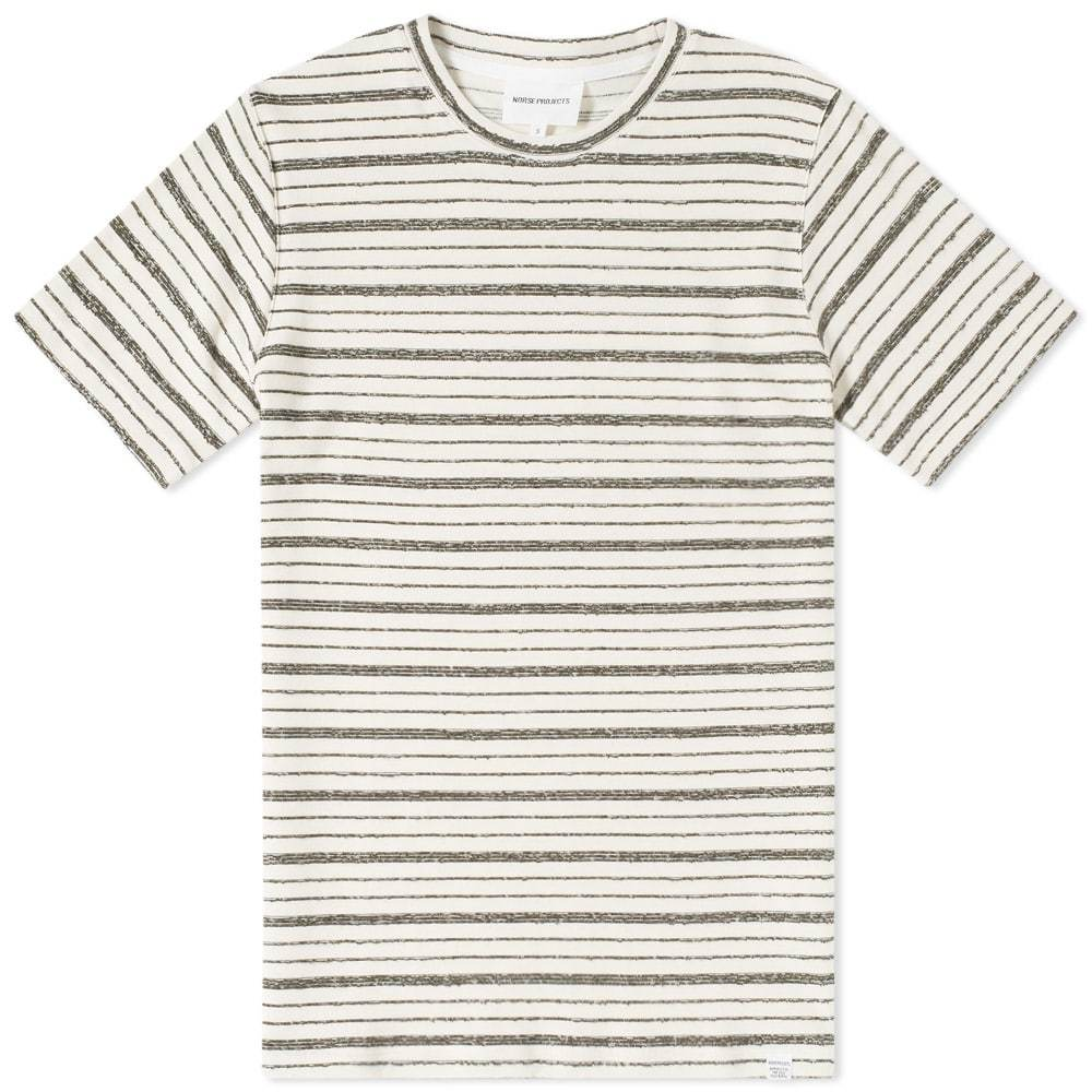 Photo: Norse Projects Niels Texture Stripe Tee Green