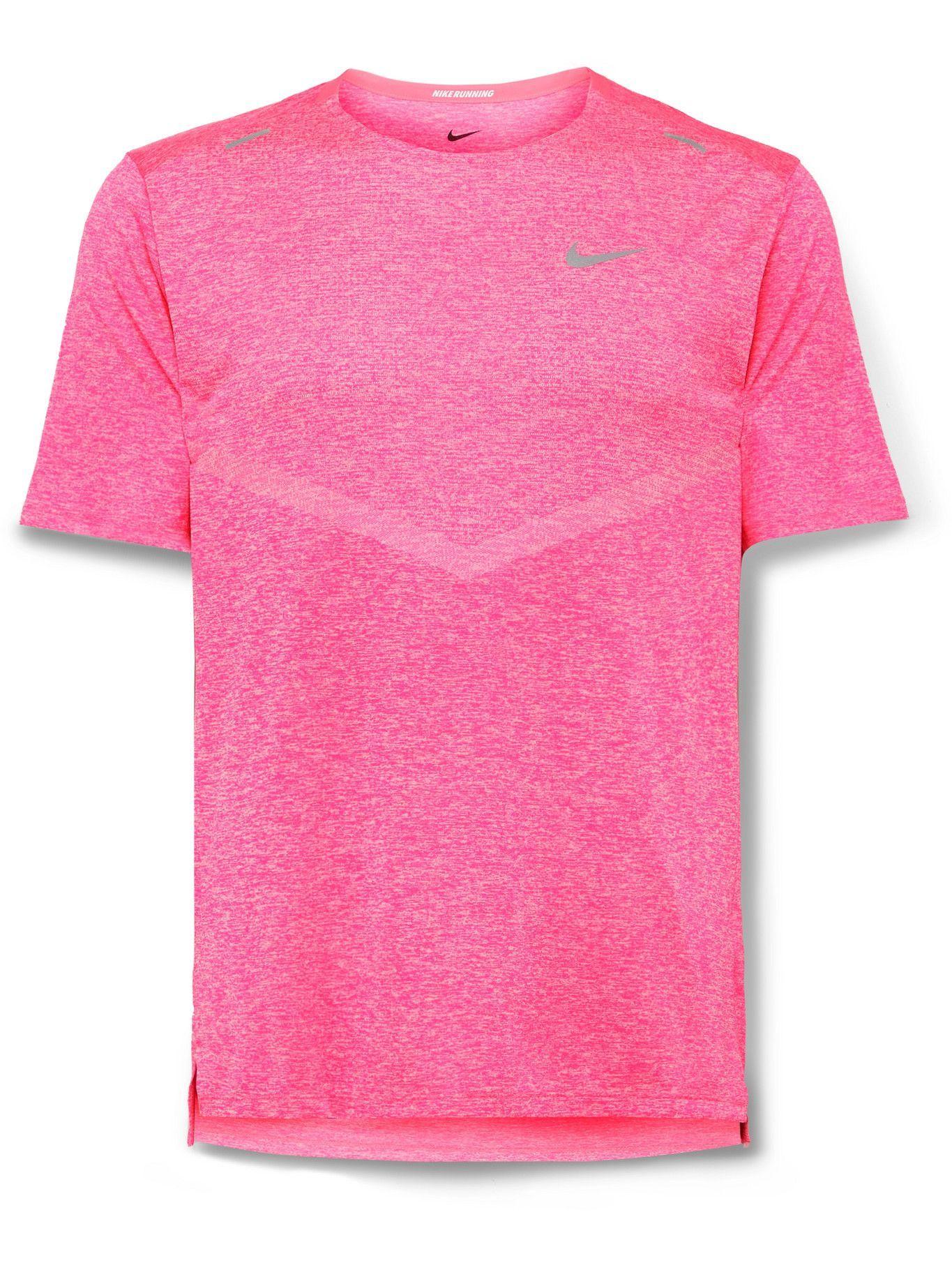 Photo: Nike Running - Rise 365 Mélange Dri-FIT T-Shirt - Pink