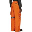 Raf Simons Orange Templa Edition Wadded Cargo Pants