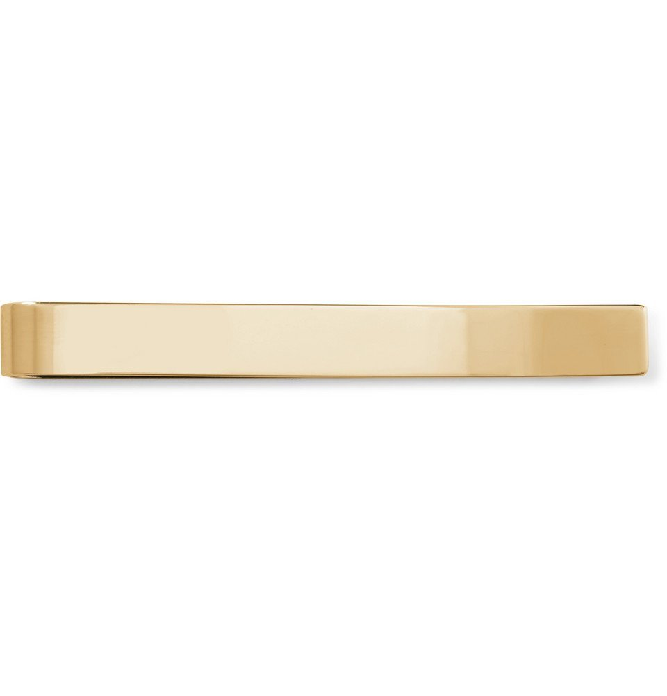 Photo: Burberry - Logo-Engraved Gold-Plated and Enamel Tie Clip - Gold
