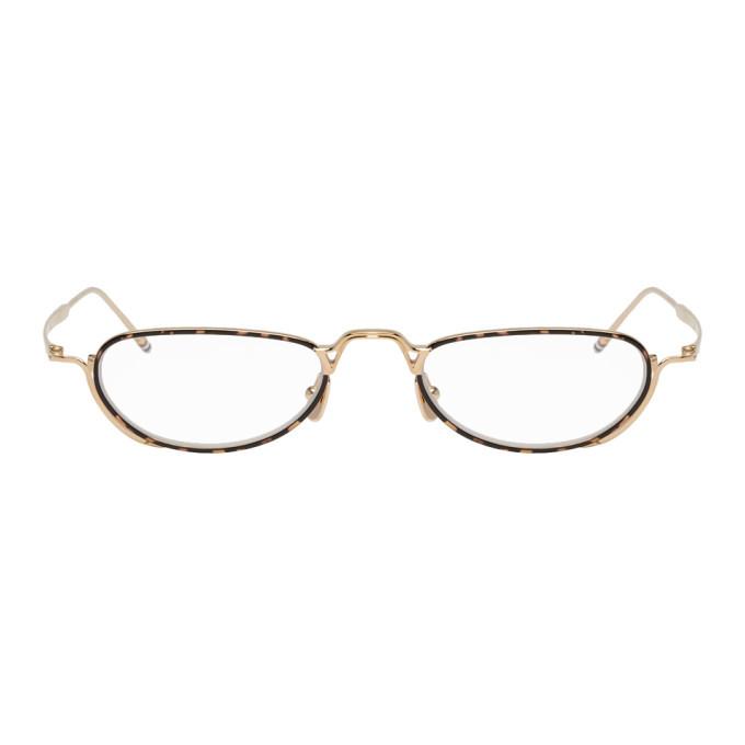 Photo: Thom Browne Gold TBX913 Glasses