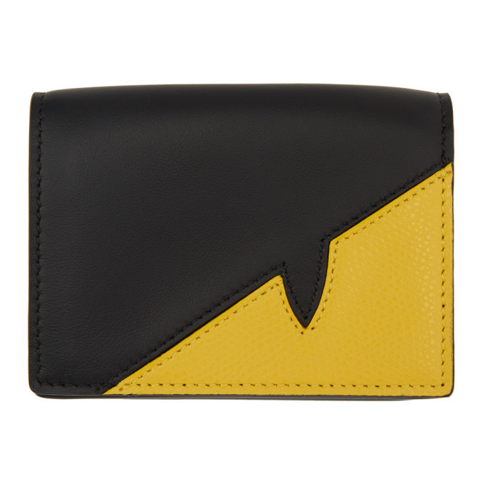 Photo: Fendi Black and Yellow Corner Bugs Wallet