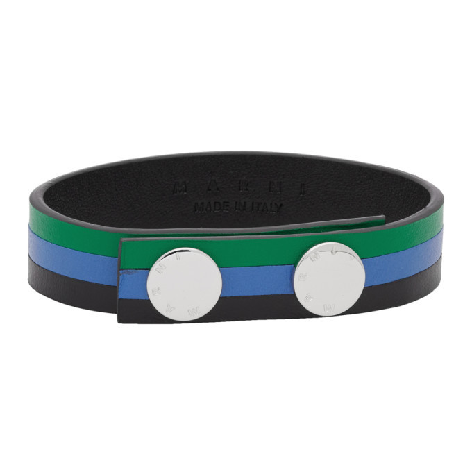 Photo: Marni Green and Blue Leather Bracelet