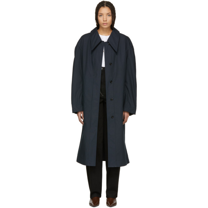 Photo: Lemaire Blue Wide Over Coat