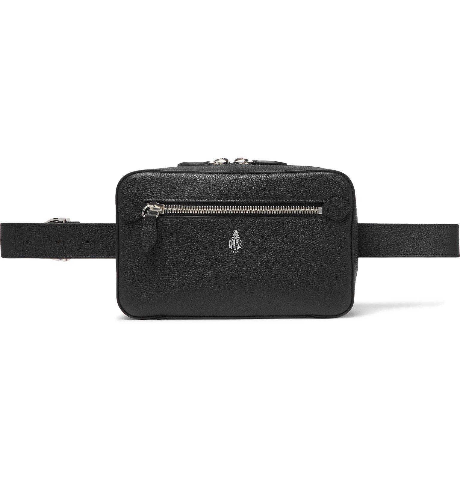 Photo: Mark Cross - Baker Full-Grain Leather Belt Bag - Black
