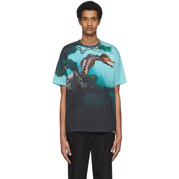 Photo: Valentino Multicolor Dragon Garden T-Shirt