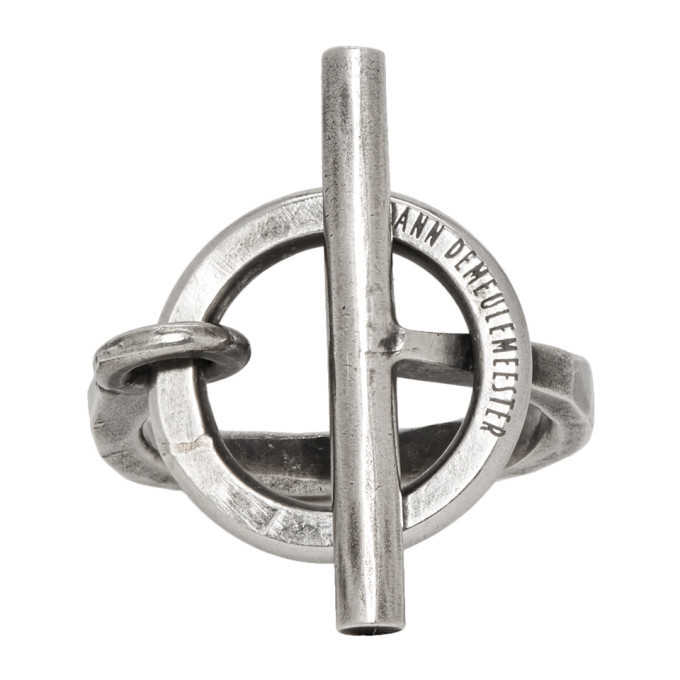 Photo: Ann Demeulemeester Silver Lock Ring