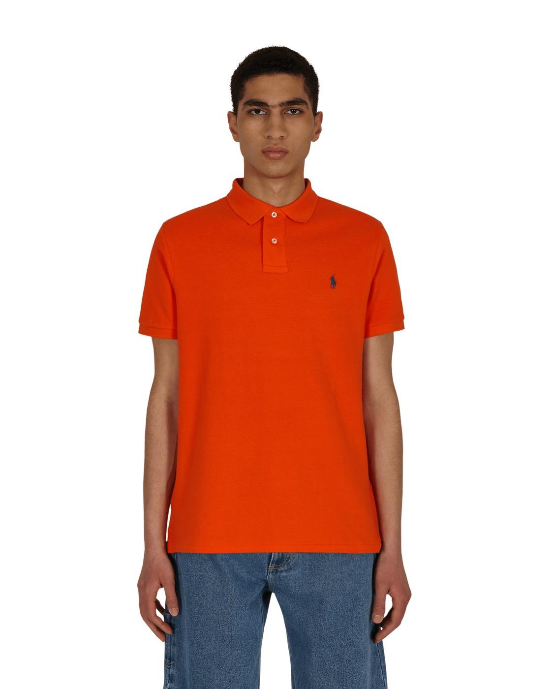 Photo: Polo Ralph Lauren Custom Slim Fit Polo Shirt Sailing Orange