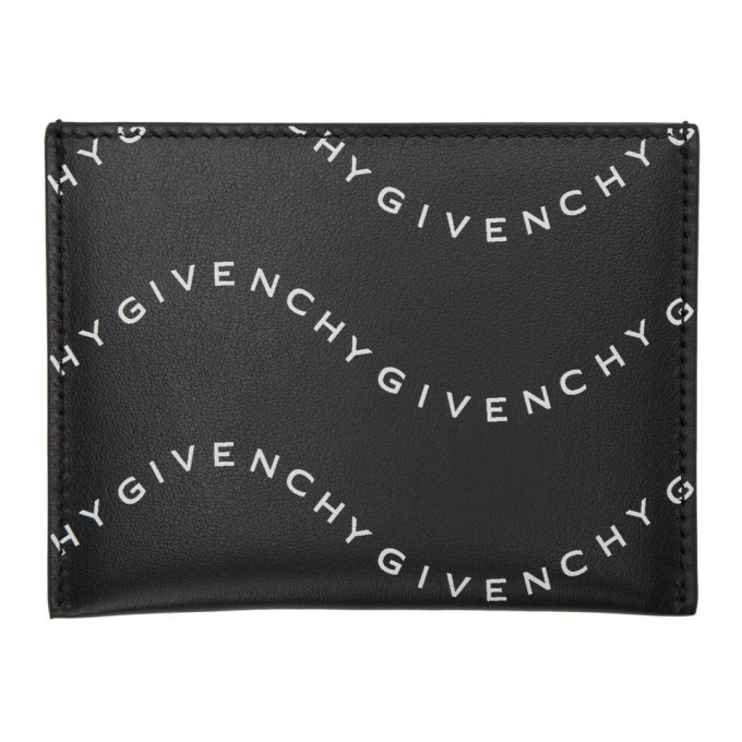 Photo: Givenchy Black and White Wave Logo 3CC Card Holder