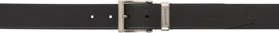 Photo: Balenciaga Black Large Rectangle Belt