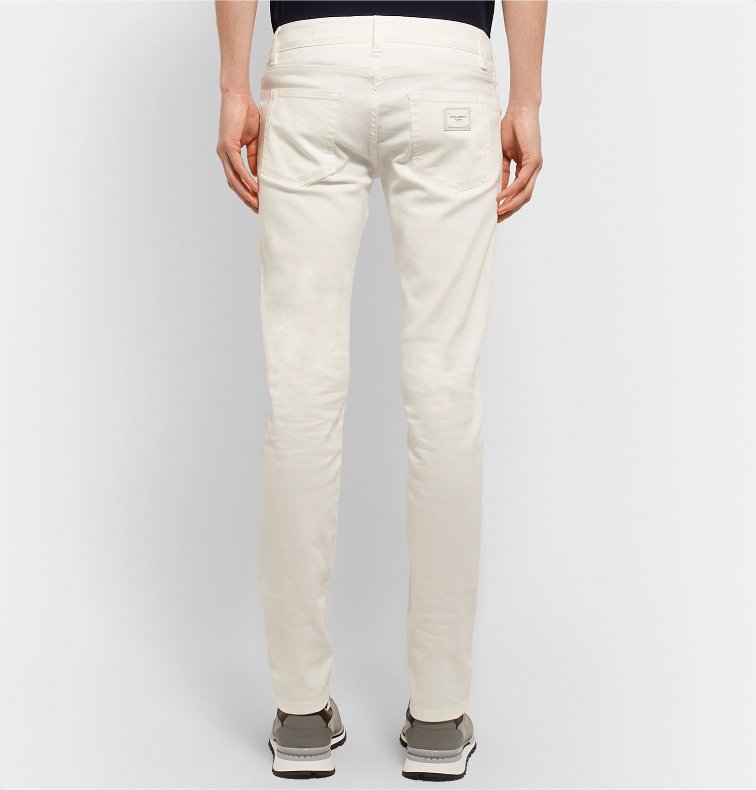 Dolce & Gabbana - Skinny-Fit Stretch-Denim Jeans - White