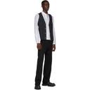 3.1 Phillip Lim White and Black Striped Blouson Shirt