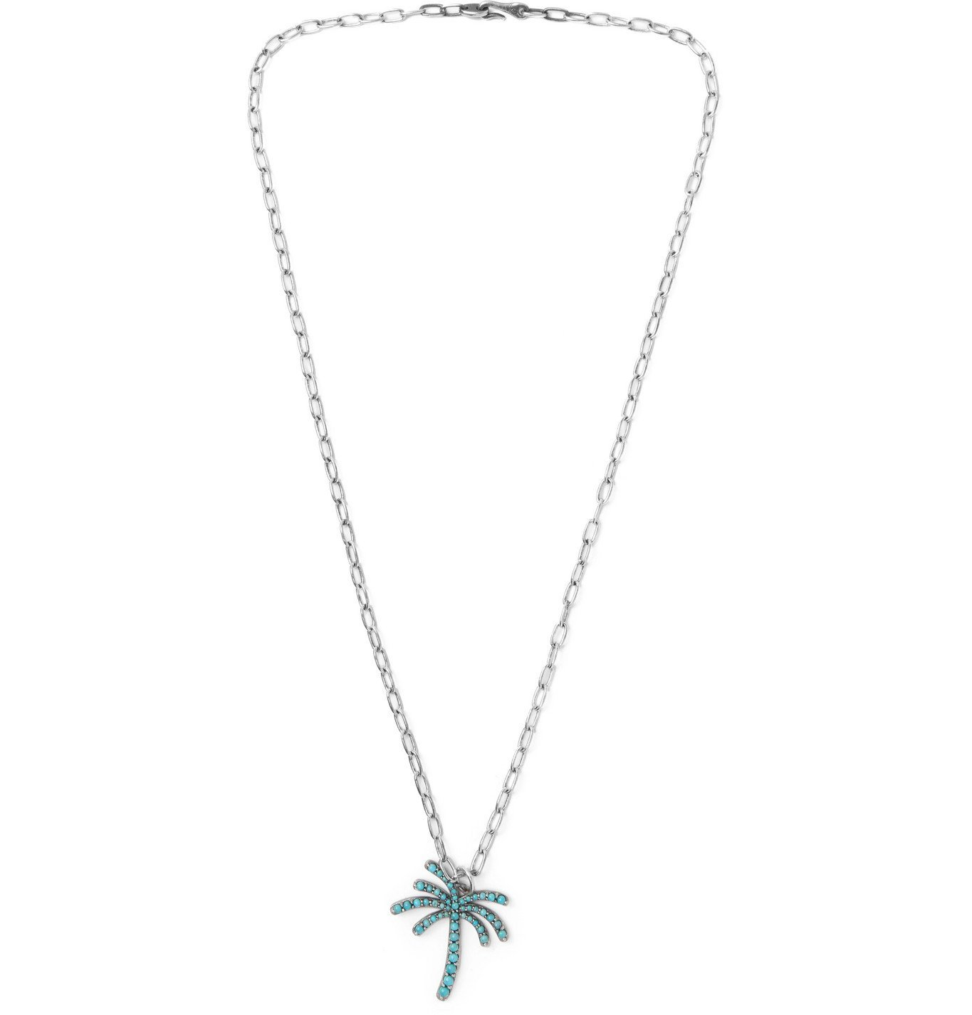 Photo: M.Cohen - Sterling Silver and Turquoise Necklace - Silver