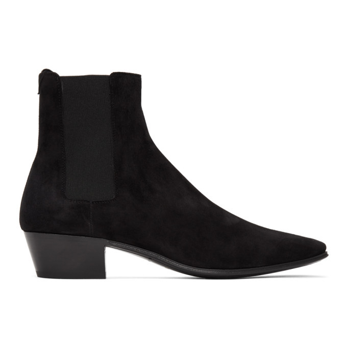 Photo: Saint Laurent Black Suede Dylan Chelsea Boots