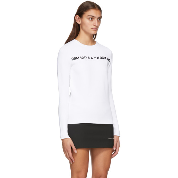 1017 ALYX 9SM White and Black 3D Logo Sweater
