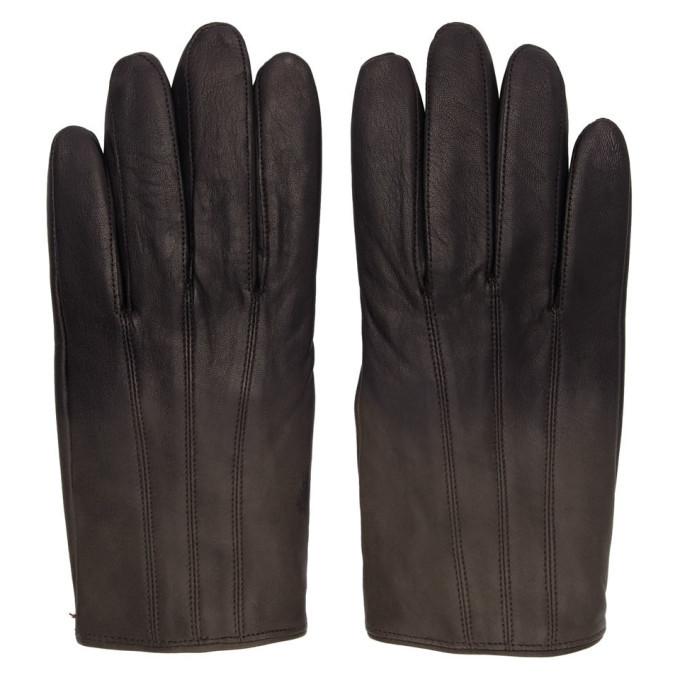 Photo: Hugo Grey Leather Gloves
