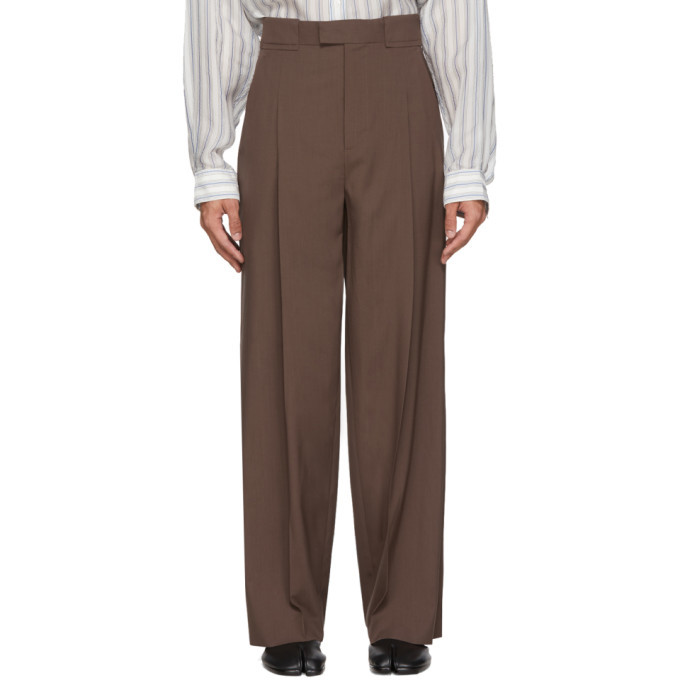 Photo: Maison Margiela Brown Extra Fine Wool Trousers