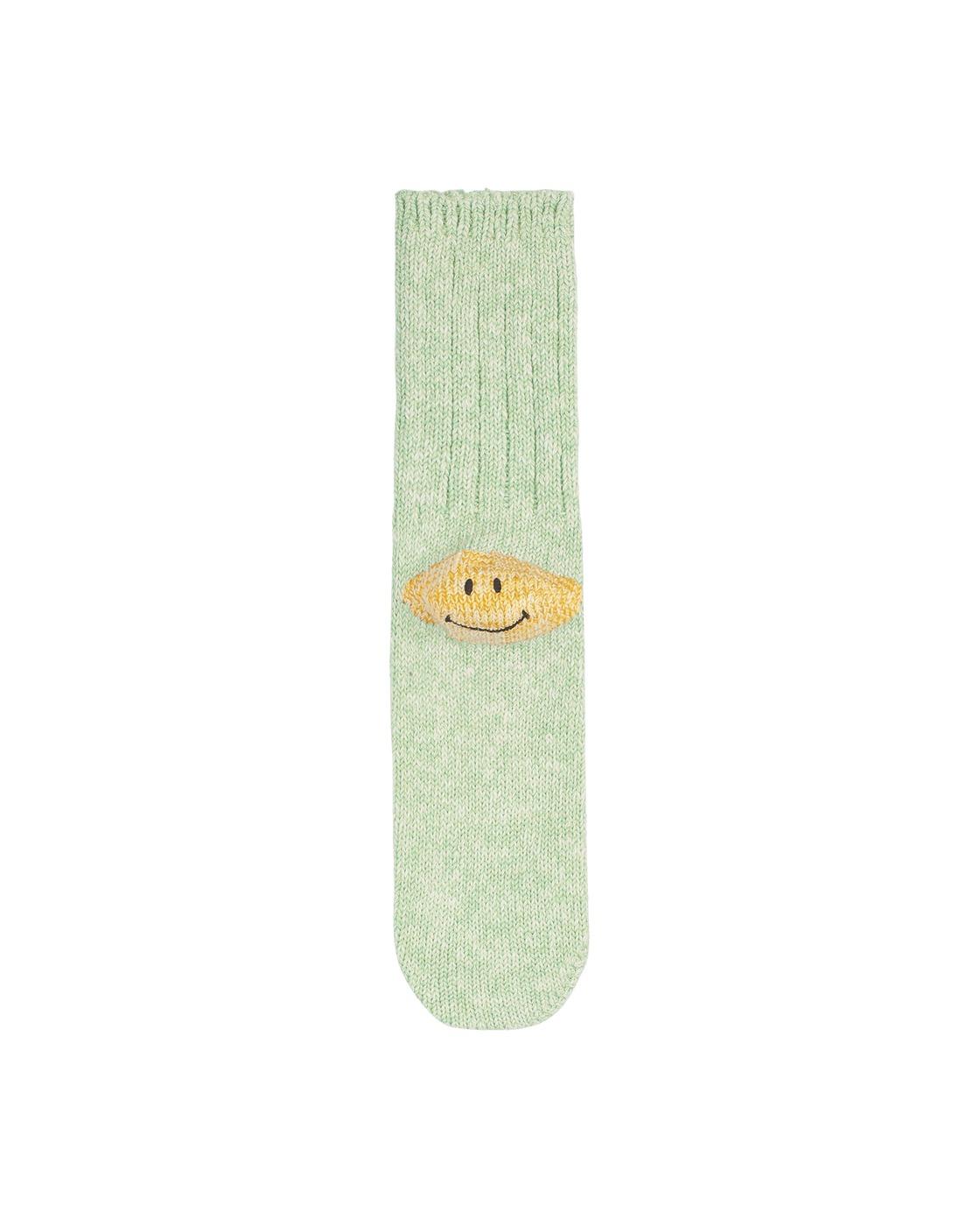 Kapital 56 Yarns 3x1 Rib Heel Smile Socks Green