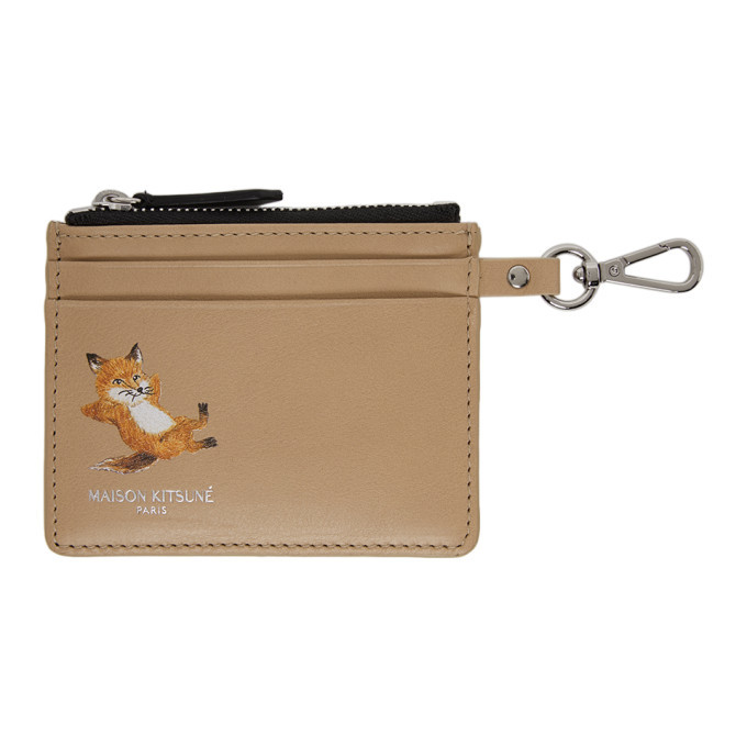Photo: Maison Kitsune Beige Chillax Fox Zipped Card Holder