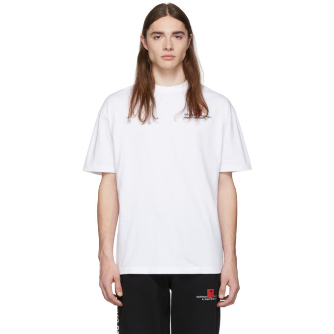 Photo: Palm Angels SSENSE Exclusive White Palm x Palm Small T-Shirt