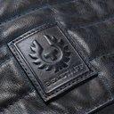 Belstaff - Burnished-Leather Biker Jacket - Men - Midnight blue