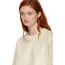 3.1 Phillip Lim Off-White Panelled Cable Knit Sweatshirt