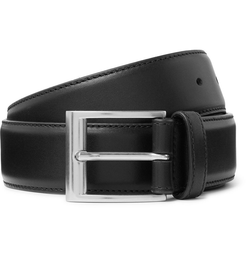 Bottega Veneta - 3.5cm Black Leather Belt - Black