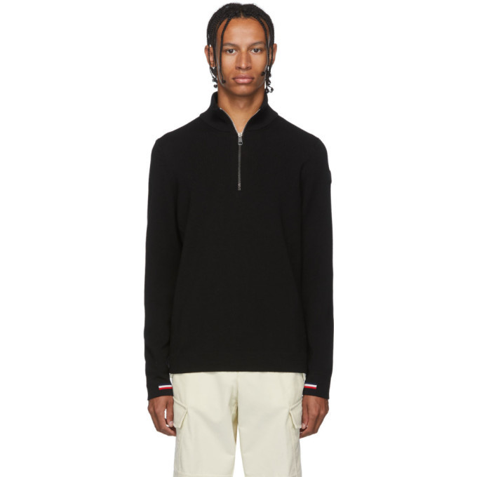 Photo: Moncler Black Maglione Lupetto Zip-Up Sweater