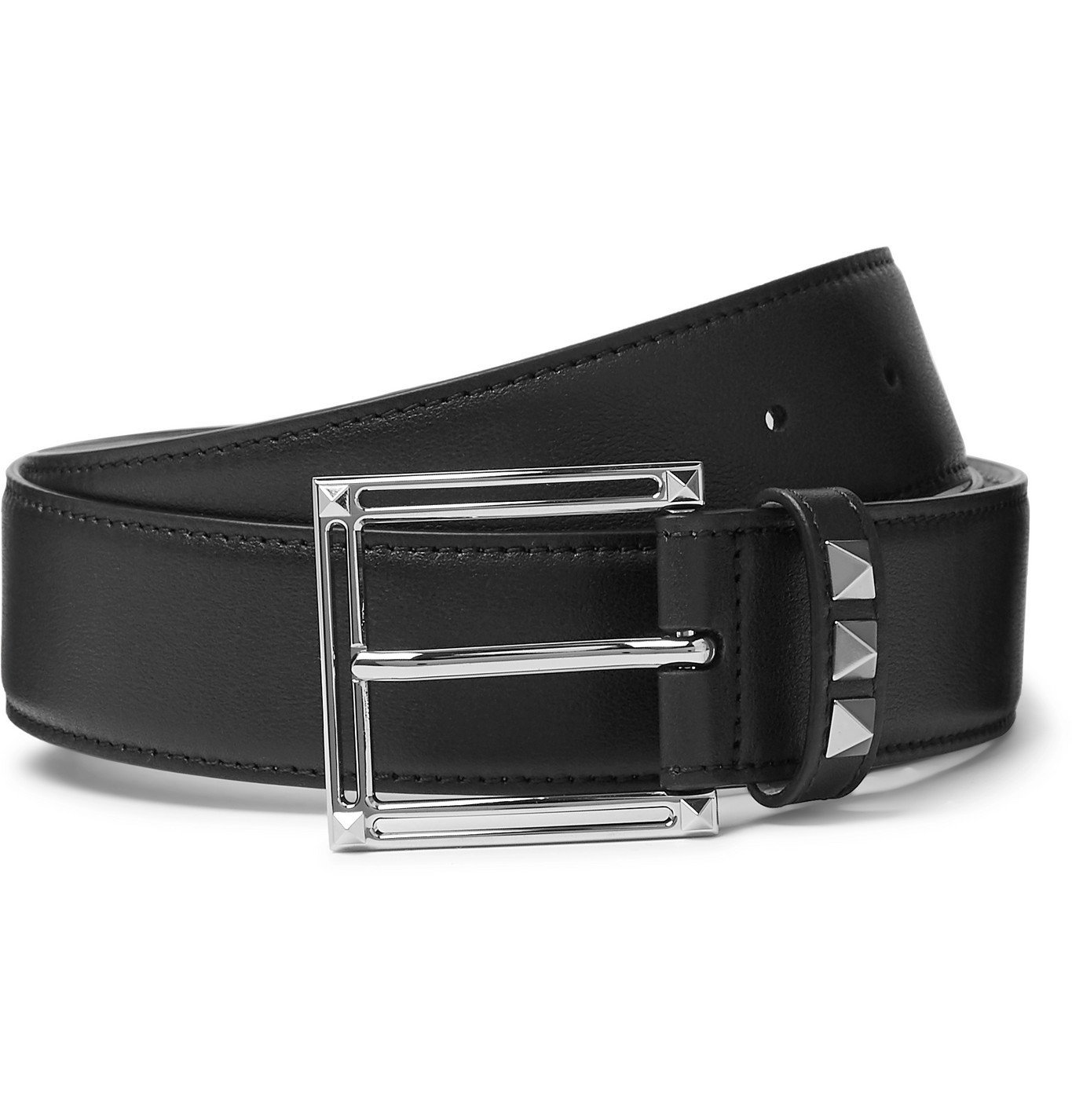 Photo: Valentino - 3.5cm Rockstud Leather Belt - Black