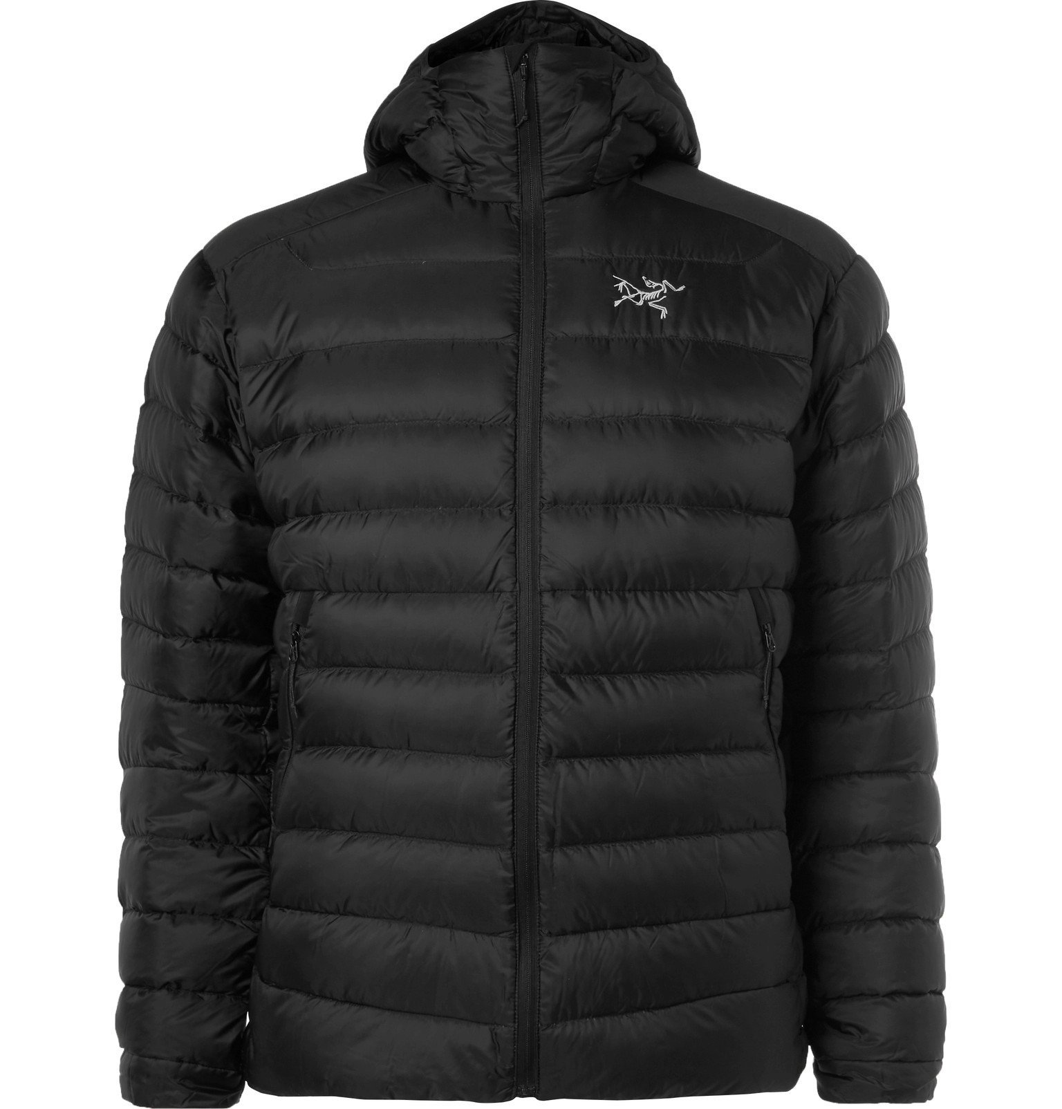 Photo: Arc'teryx - Cerium LT Slim-Fit Quilted Ripstop Hooded Down Jacket - Black