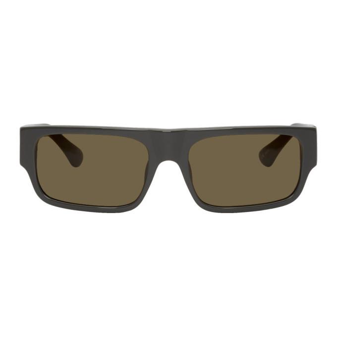 Photo: Dries Van Noten Grey Linda Farrow Edition 189 C2 Rectangular Sunglasses