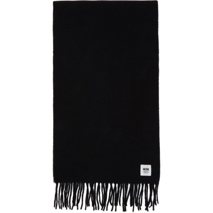 Photo: Wood Wood Black Wool Karlo Scarf