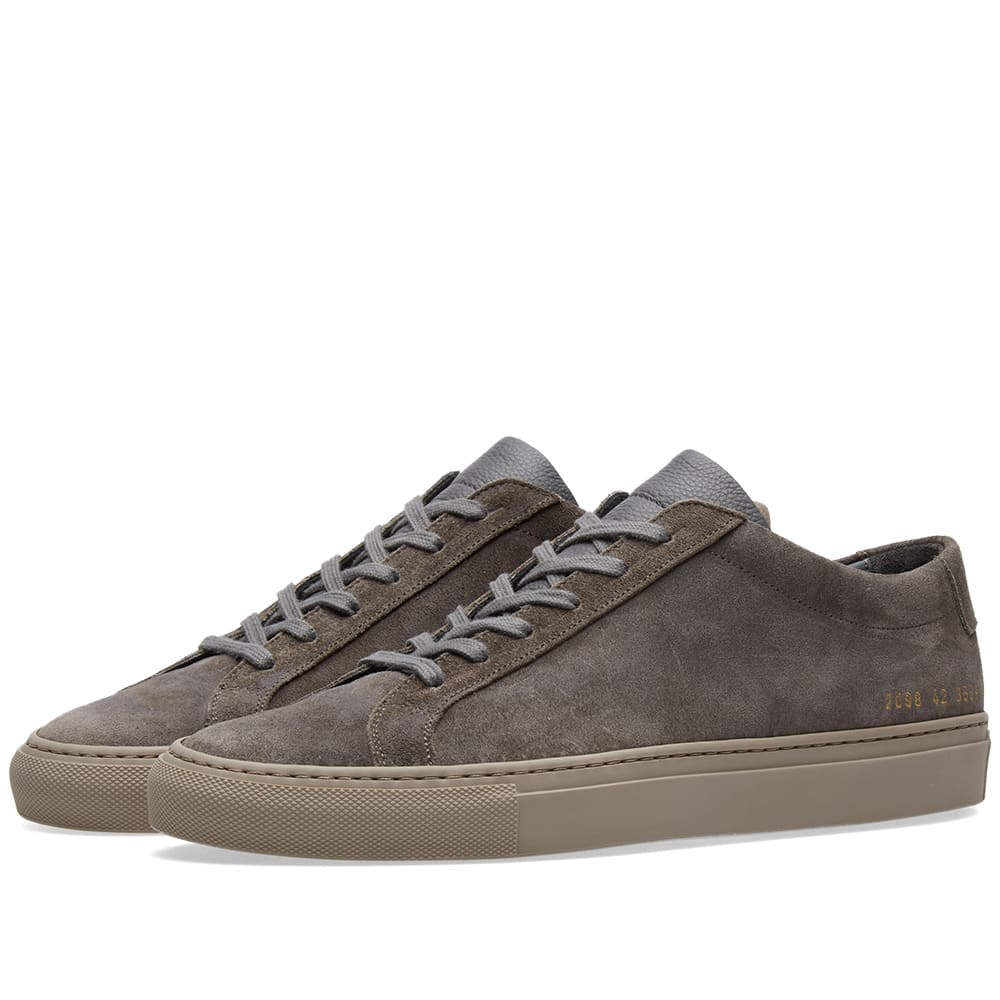 Photo: Common Projects Achilles Low Waxed Suede Grey