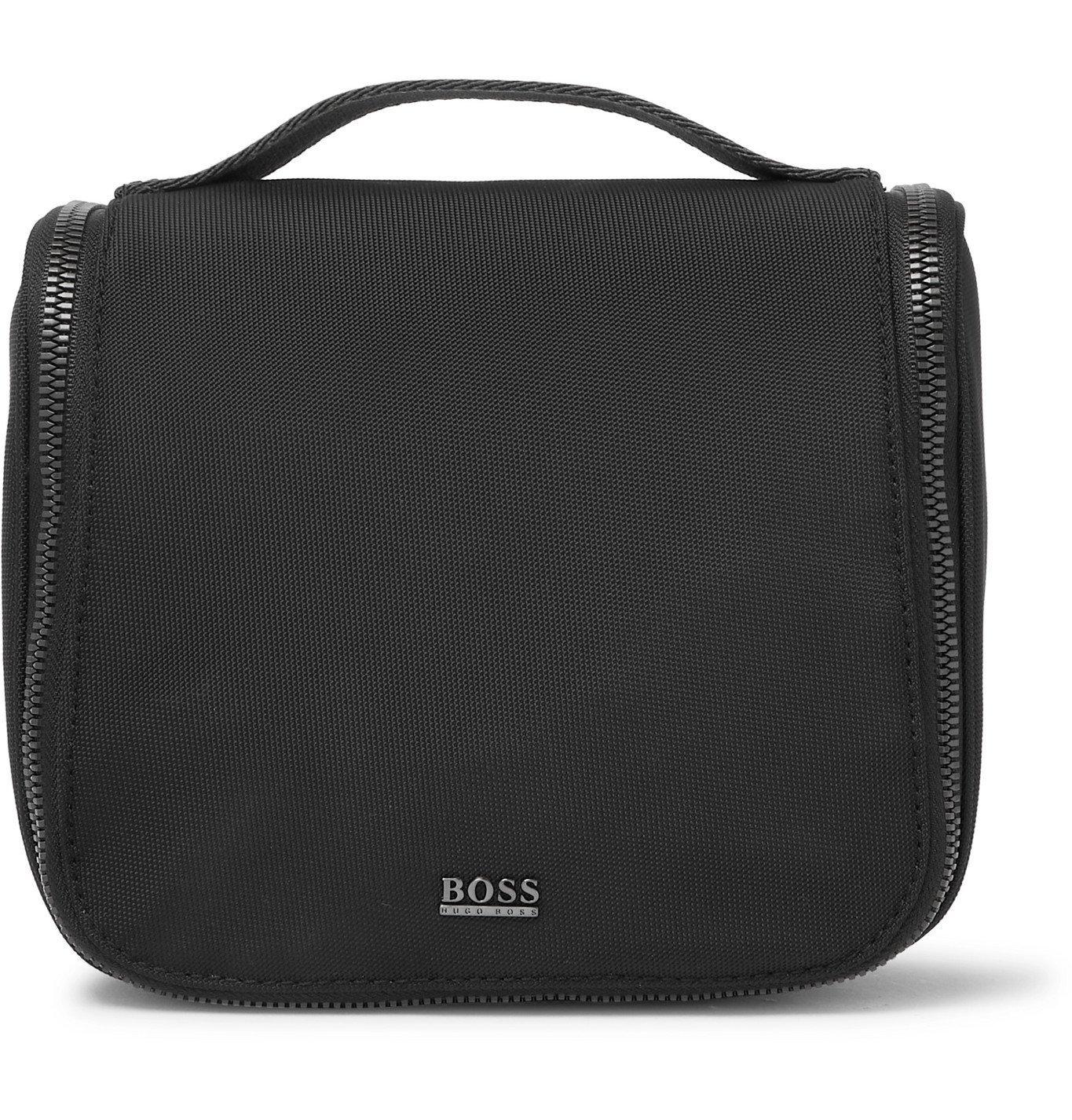 HUGO BOSS - Webbing-Trimmed Canvas Wash Bag - Black