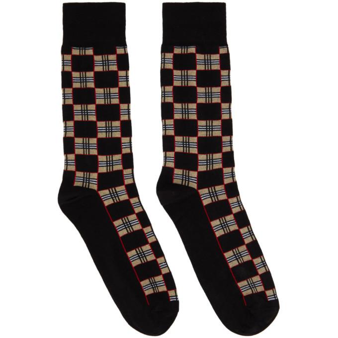 Photo: Burberry Black Check Gentleman Socks