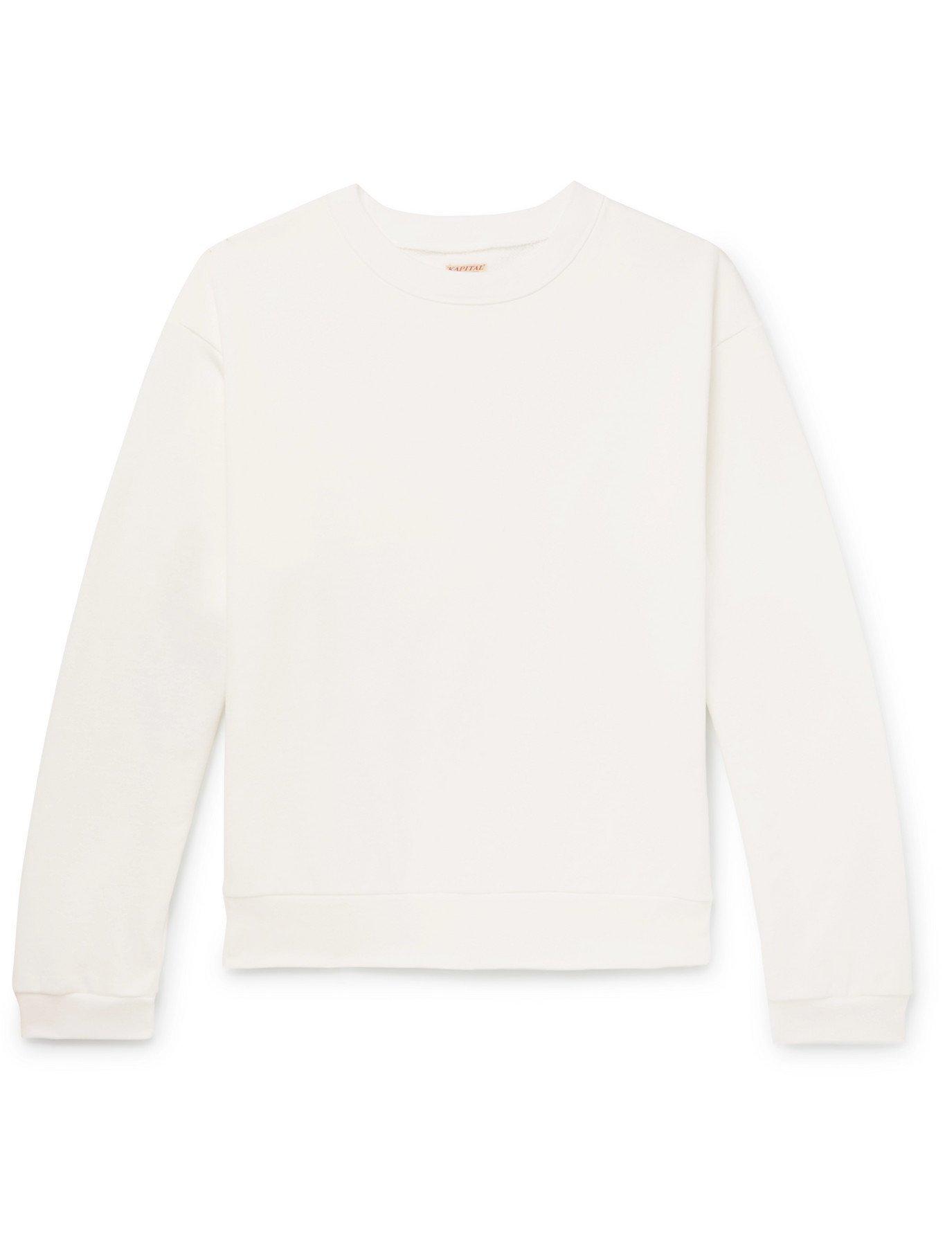 Photo: KAPITAL - Printed Loopback Cotton-Jersey Sweatshirt - White