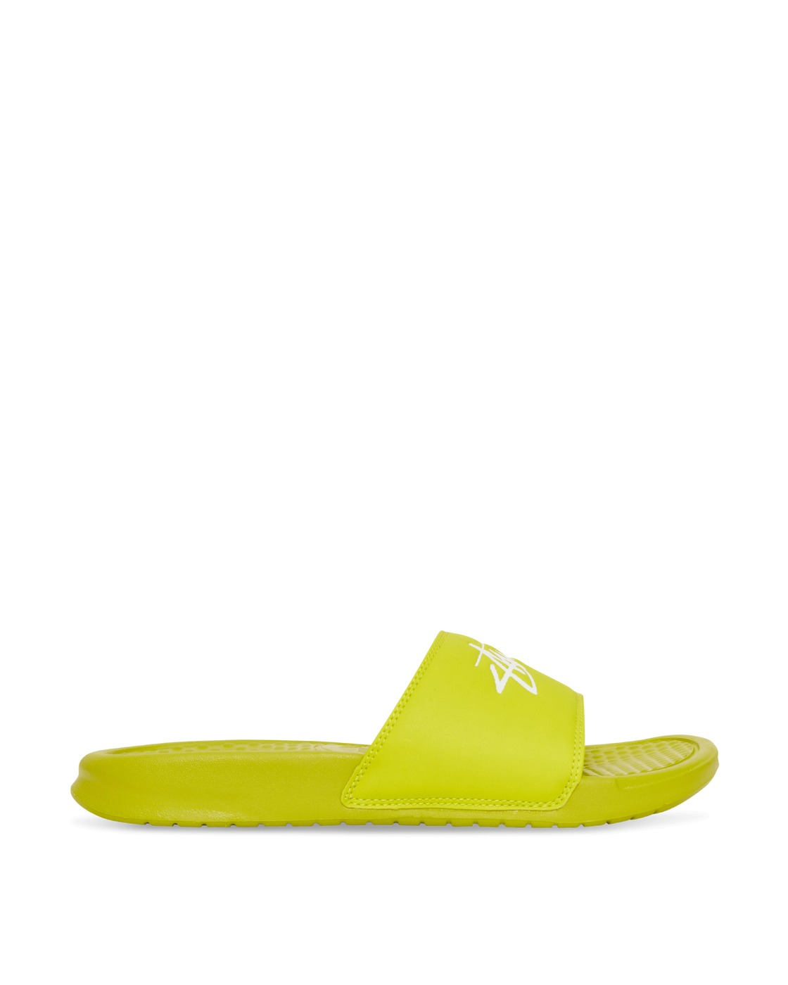 Nike Special Project Stussy Benassi Slides Bright Cactus/White