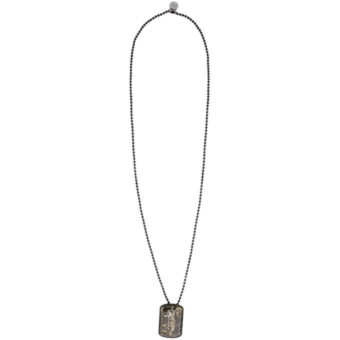 Photo: Alexander McQueen Black Camouflage Beaded Necklace
