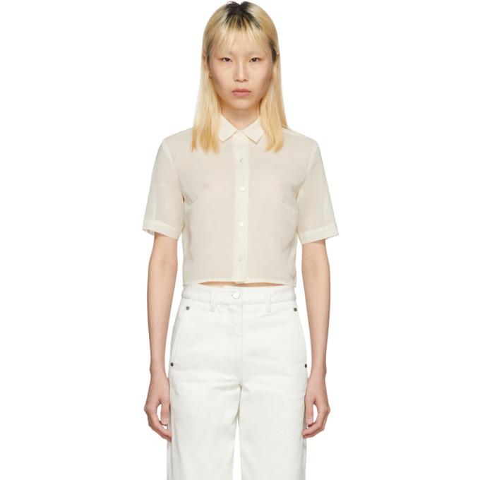 Off-White Portrait Cropped Shirt Moderne Wear Resistance Buy Cheap Big Discount 6tUsKo8GX9
